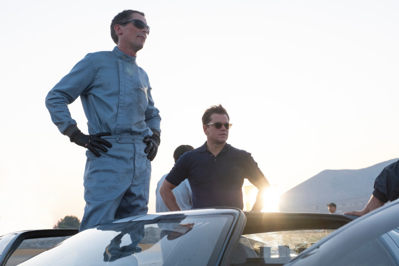 Christian Bale and Matt Damon in Twentieth Century Fox's FORD V. FERRARI.